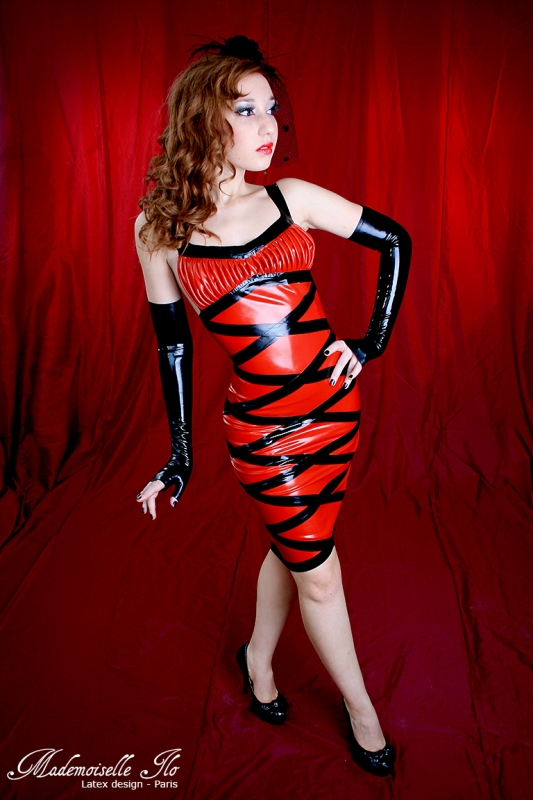 Mademoiselle Ilo Diamond Dress Latex Rubber Paris France